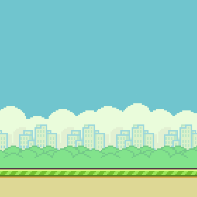 A screenshot or other image of Flappy Bird Ground